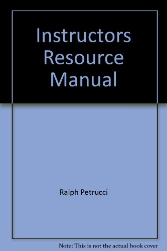 9780130176783: Instructors Resource Manual