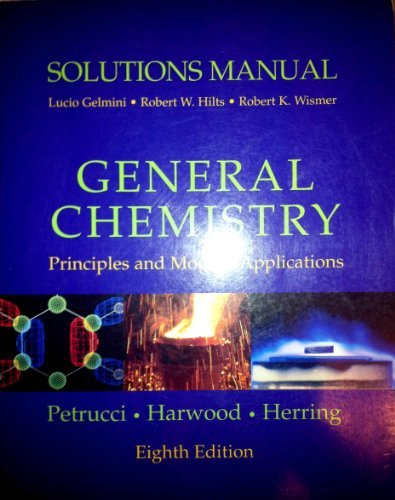 9780130176837: Solutions Manual: General Chemistry