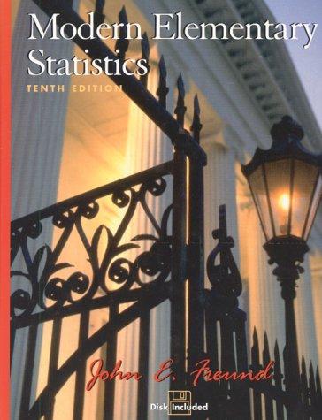 9780130177018: Modern Elementary Statistics (10th Edition)