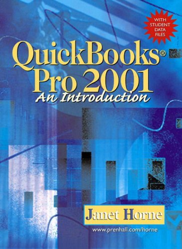 9780130177865: QuickBooks Pro 2002 An Introduction with Student Data Files