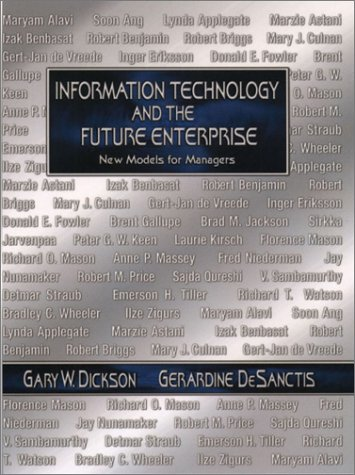 9780130178541: Information Technology and the Future Enterprise : New Models for Managers