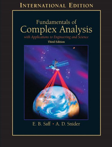 9780130179685: Fundamentals of Complex Analysis with Applications to Engineering, Science, and Mathematics: International Edition