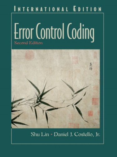 9780130179739: Error Control Coding: International Edition: Fundamentals and Applications