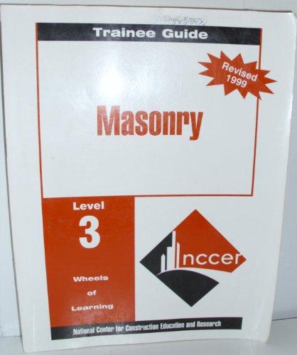 9780130179876: Masonry Lev 3 Perfect Bnd Trainee Guide 99 Rev