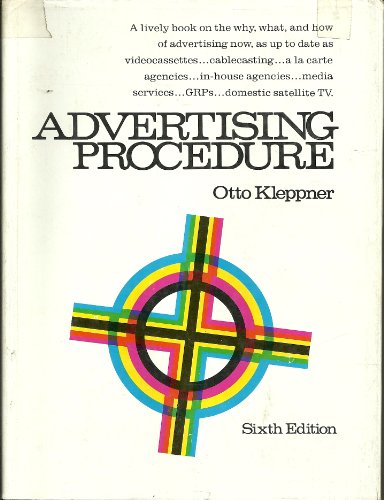 9780130180698: Advertising procedure
