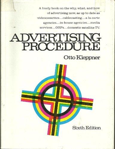 9780130180698: Advertising Procedure
