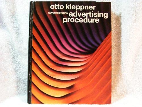 9780130181190: Advertising Procedure