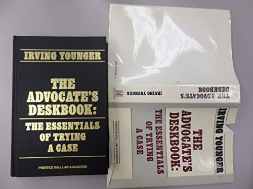 9780130181695: The Advocates's Deskbook: The Essentials of Trying a Case