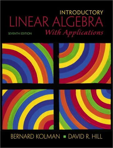 9780130182654: Introductory Linear Algebra with Applications (7th Edition)
