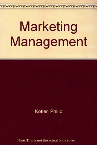 9780130182814: Marketing Management