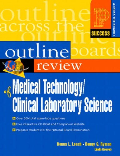 9780130184047: Prentice Hall Health's Outline Review of Medical Technology/Clinical Laboratory Science (Success Across the Boards)