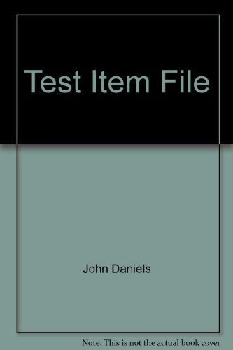 Test Item File: John D. Daniels,