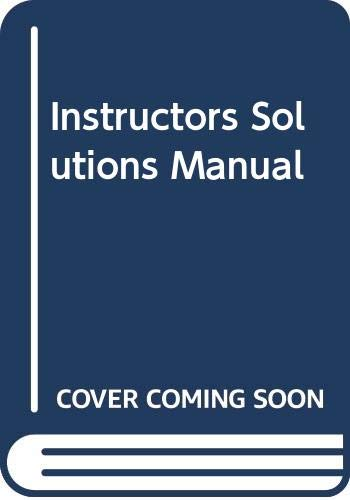 9780130184689: Instructors Solutions Manual