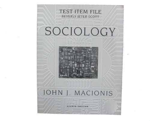 9780130184986: Test Item File: Sociology [Eighth Edition]