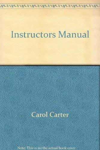 9780130185594: Instructors Manual