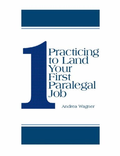 9780130188328: Practicing to Land Your First Paralegal Job