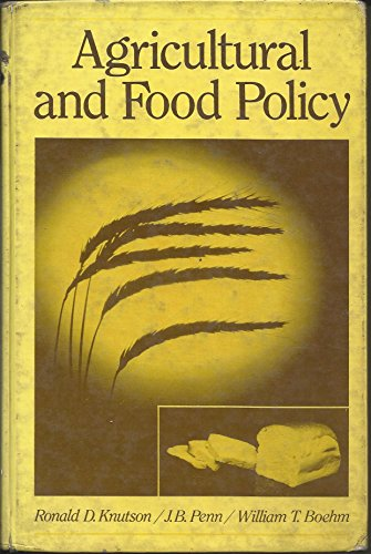 9780130189110: Agricultural and Food Policy