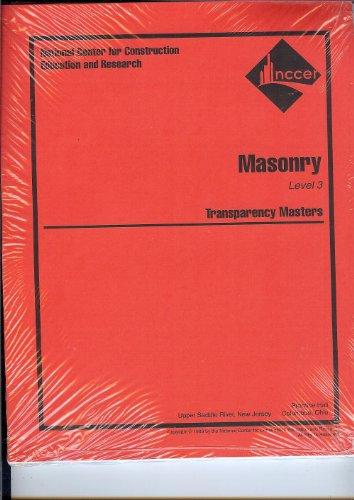 9780130189134: Masonry Transparency Masters Level 3 (Masonry: Level 3)