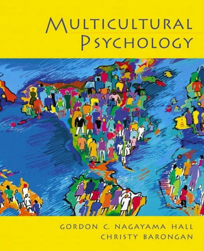 9780130191465: Multicultural Psychology
