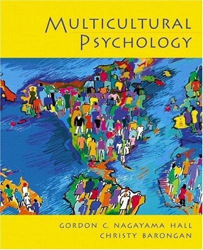 9780130191465: Multicultural Psychology