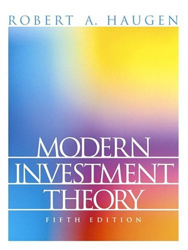 9780130191700: Modern Investment Theory: United States Edition (Prentice Hall Finance Series)