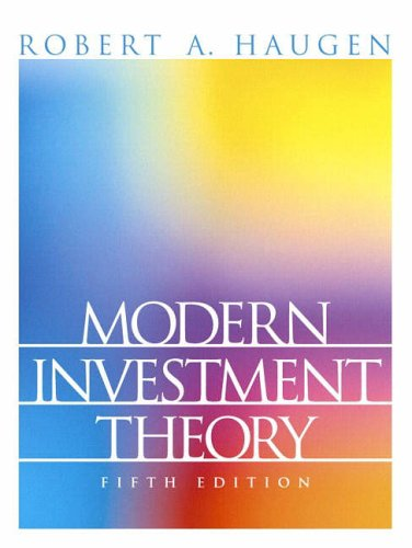 9780130191700: Modern Investment Theory (Prentice Hall Finance Series)