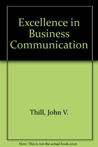 9780130193551: Excellence in Business Communication, Canadian Edition