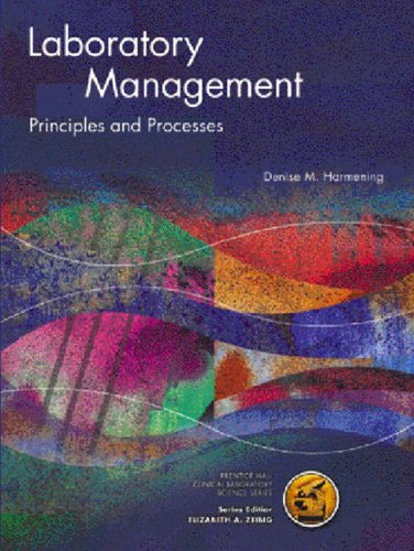 9780130194596: Laboratory Management: Principles and Processes