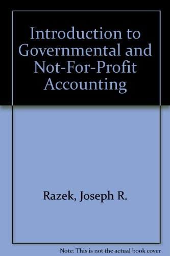9780130196590: Introduction to Governmental and Not-For-Profit Accounting