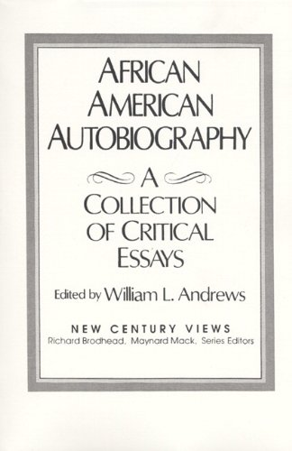 9780130198457: African-American Autobiography: A Collection of Critical Essays