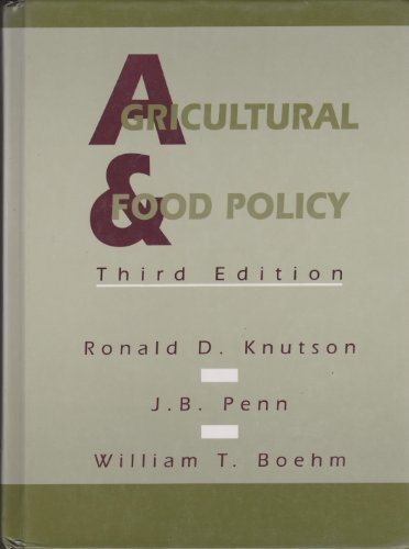 9780130198600: Agricultural and Food Policy