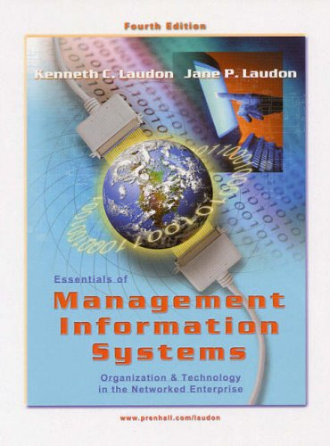9780130199461: Essentials of Management Information Systems, 4th Ed.