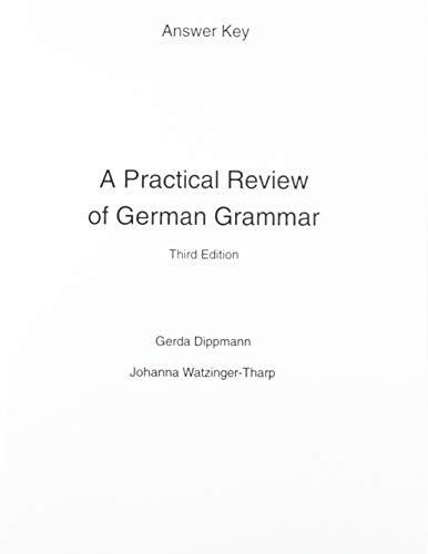 9780130203076: A Practical Review of German Grammar: Answer Key