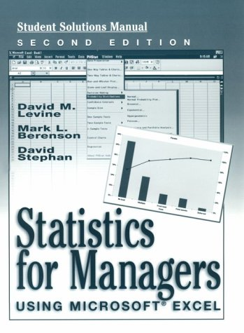 9780130203311: Statistics for Managers Using Microsoft Excel (Student Solutions Manual)