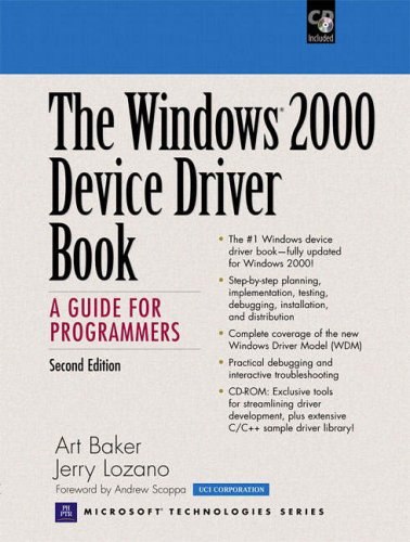 9780130204318: The Windows 2000 Device Driver Book