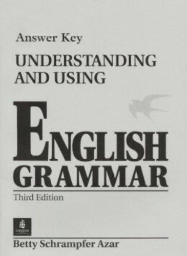 9780130205520: Understanding and Using English Grammar Answer Key