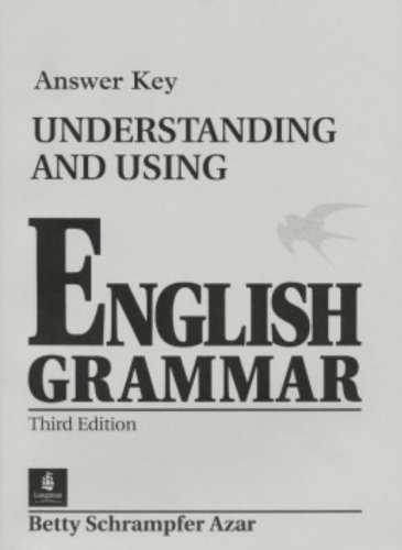 9780130205520: Understanding and Using English Grammar Answer Key