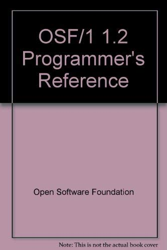 9780130205797: OSF/1 1.2 Programmer's Reference