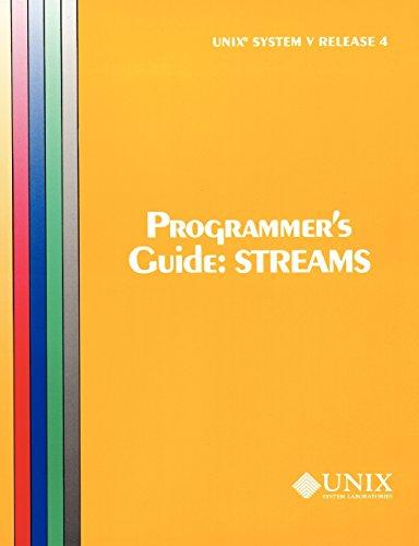 9780130206602: UNIX System V Release 4 Programmer's Guide Streams (Uniprocessor Version) (At&T Unix System V, Release 4. System Programmer's Series)