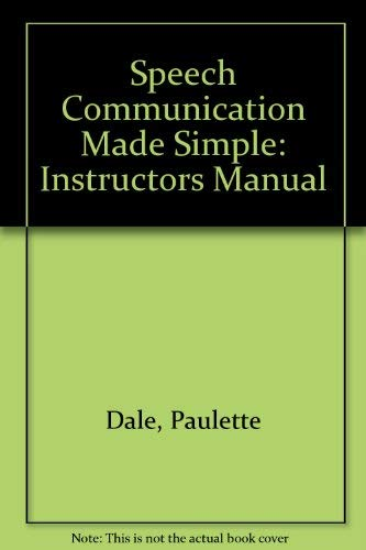 9780130208026: Speech Communication Made simple: Teacher's Manual