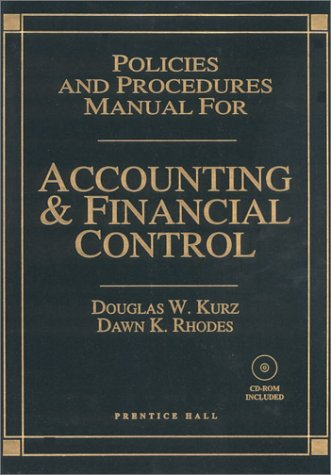 9780130208798: Policies and Procedures Manual for Accounting and Financial Control with CDROM