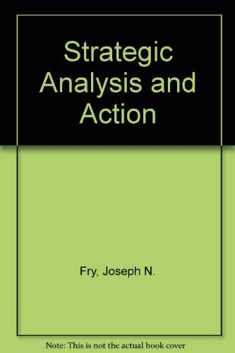 9780130209320: Strategic Analysis and Action, Canadian Edition