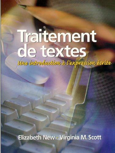 9780130210661: Traitement de textes: Une introduction à l'expression écrite