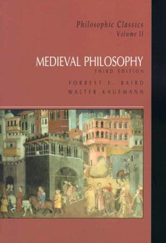 9780130213150: Philosophic Classics: Volume II: Medieval Philosophy: Medieval Philosophy: Medieval Philosophy: 2