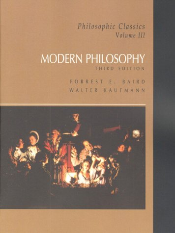9780130213167: Philosophic Classics: Modern Philosophy v. 3