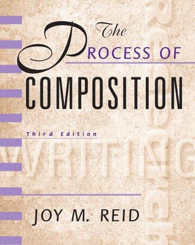 9780130213174: The Process of Composition (Reid Academic Writing), 3rd Edition