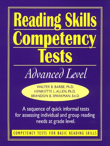 9780130213334: Reading Skills Competency Tests: Advanced Level (J-B Ed: Ready-to-Use Activities)