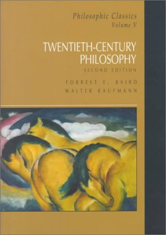 9780130215345: Philosophic Classics, Volume V: Twentieth Century Philosophy (2nd Edition)