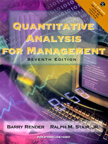 9780130215383: Quantitative Analysis for Management (7th Edition)