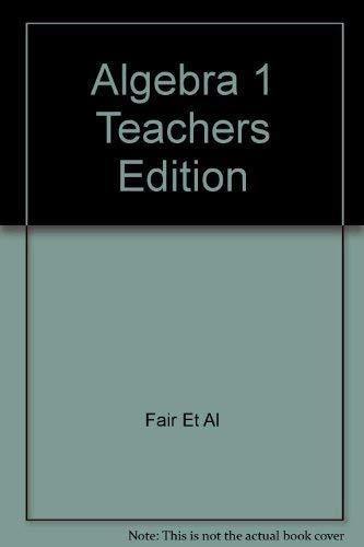9780130217349: Algebra 1 Teachers Edition